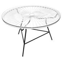 TABLE BASSE ZIPOLITE BLANC de BOQA