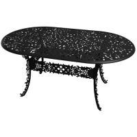 TABLE OVALE INDUSTRY GARDEN NOIR de SELETTI
