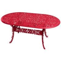 TABLE OVALE INDUSTRY GARDEN ROUGE de SELETTI