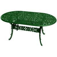 TABLE OVALE INDUSTRY GARDEN VERT de SELETTI