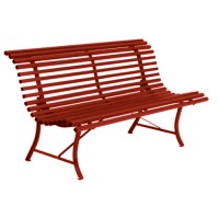 BANC LOUISIANE 150 CM PIMENT de FERMOB
