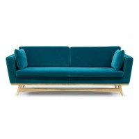 CANAPE FIFTIES 210CM VELOURS BLEU CANARD de RED EDITION