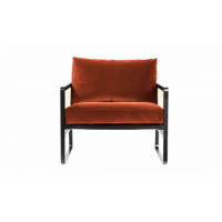 FAUTEUIL CANNAGE, Tissu velours, Fox de RED EDITION