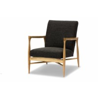 FAUTEUIL FLOATING, Tissu chiné, Anthracite de RED EDITION