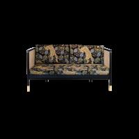 CANAPÉ CANNAGE 160, Tissu jungle léopard de RED EDITION