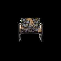 FAUTEUIL CANNAGE, Bois teinté noir, Léopard Jungle de RED EDITION