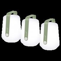 LOT DE 3 LAMPES H12 CM BALAD, 7 couleurs de FERMOB
