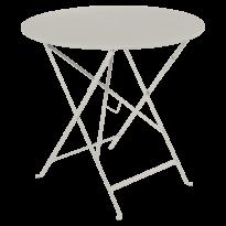 TABLE PLIANTE BISTRO 77CM, Gris argile de FERMOB