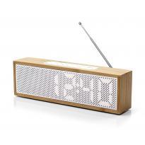 RADIO REVEIL TITANIUM CLOCK RADIO, Bambou de LEXON