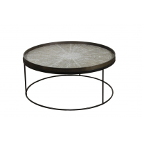 TABLE BASSE ROUND EXTRA LARGE, D.93 x H.38 d'ETHNICRAFT ACCESSORIES