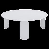 TABLE BASSE BEBOP, D.80, Blanc coton de FERMOB
