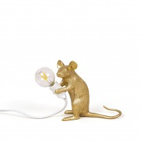 LAMPE A POSER MOUSE LAMP GOLD, 3 options de SELETTI