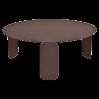 TABLE BASSE BEBOP, D.80, Rouille de FERMOB