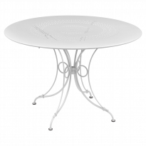 TABLE 1900, D.117 CM, blanc coton de FERMOB