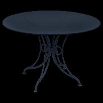TABLE 1900, D. 117 CM, Bleu abysse de FERMOB