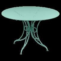 TABLE 1900, D.117 CM, Bleu lagune de FERMOB