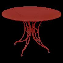 TABLE 1900, D.117 CM, Coquelicot de FERMOB