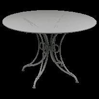 TABLE 1900, D.117 CM, Gris métal de FERMOB