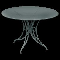 TABLE 1900, D.117 CM, Gris orage de FERMOB