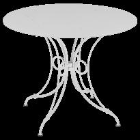 TABLE 1900, D.96 CM, Blanc de FERMOB