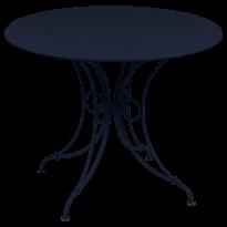 TABLE 1900, D.96 CM, Bleu abysse de FERMOB
