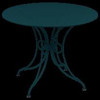 TABLE 1900, D.96 CM, Bleu acapulco de FERMOB