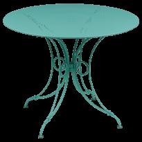 TABLE 1900, D.96 CM, Bleu lagune de FERMOB