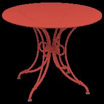 TABLE 1900, D.96 CM, Capucine de FERMOB