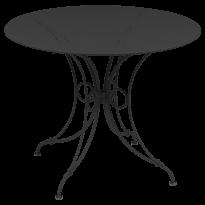 TABLE 1900, D.96 CM, Carbone de FERMOB