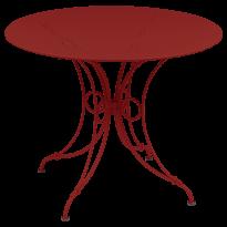 TABLE 1900, D.96 CM, Coquelicot de FERMOB