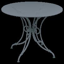 TABLE 1900, D.96 CM, Gris orage de FERMOB