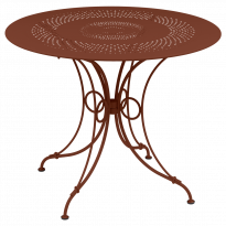 TABLE 1900, D.96 CM, Ocre rouge de FERMOB