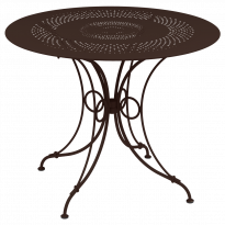 TABLE 1900, D.96 CM, Rouille de FERMOB