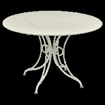 TABLE 1900, D.117 CM, Gris argile de FERMOB