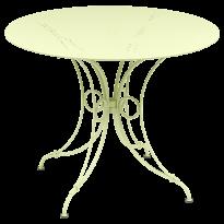 TABLE 1900, D.96 CM, Citron givré de FERMOB