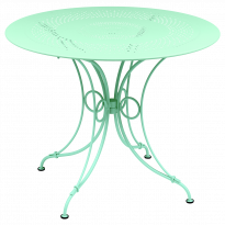 TABLE 1900, D.96 CM, Vert opaline de FERMOB