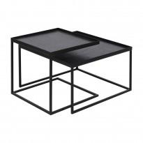 Set Square Tray tables basses de Ethnicraft Accessories, H.31/38