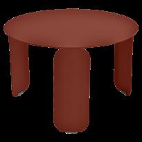 TABLE BASSE BEBOP, D.60, Ocre rouge de FERMOB