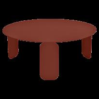 TABLE BASSE BEBOP, D.80, Ocre rouge de FERMOB