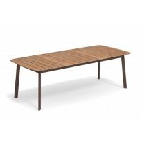 TABLE SHINE, 225 x 100 cm, Marron d