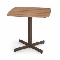 TABLE 79X79CM SHINE, Marron d