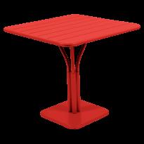 TABLE CARRÉE LUXEMBOURG 80x80 cm, 23 couleurs de FERMOB