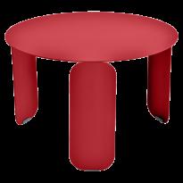 TABLE BASSE BEBOP, D.60, Coquelicot de FERMOB