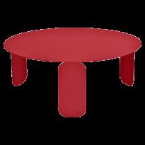 TABLE BASSE BEBOP, D.80, Coquelicot de FERMOB