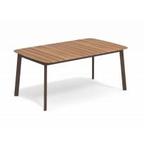 TABLE SHINE, 166 x 100 cm, Marron d