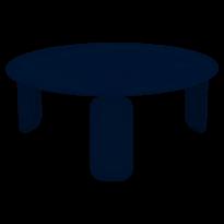 TABLE BASSE BEBOP, D.80, Bleu abysse de FERMOB
