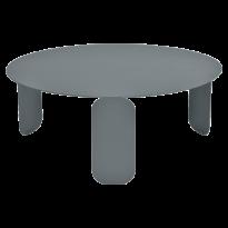 TABLE BASSE BEBOP, D.80, Gris orage de FERMOB