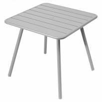 TABLE CARRÉE 4 PIEDS LUXEMBOURG 80 x 80 cm, 23 couleurs de FERMOB