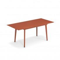 Table extensible PLUS4 BALCONY de Emu, 120/172 x 80 cm, Rouge d