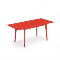 Table extensible PLUS4 BALCONY de Emu, 120/172 x 80 cm, Rouge écarlate